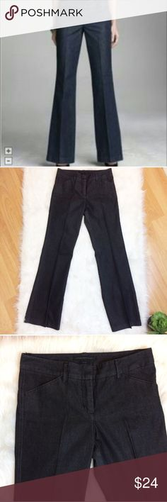 """Express Design Studio Editor Jeans Express design studio editor Stretch Jeans. Size 4. 77% cotton • 20% polyester • 3% spandex. Waist is 15.5"""". Inseam is 32 3/4"""". Excellent condition. Express Jeans"""