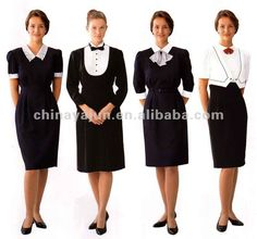 Good looking restaurant uniform for women hotel uniforms for women