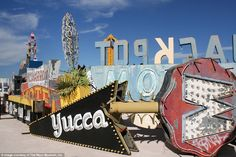 Neon graveyard, Las Vegas #NeonMuseum #MissingType  #FntSunday @GiveBloodNHS…