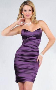 Sheath Column Sweetheart Ruffles Sleeveless Short Mini Satin Cocktail Dresses prom Dresses #prom #dress www.loveitsomuch.com