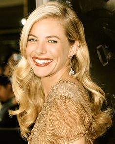 Sienna Miller - one of my all time favorite looks, from hair to jewels to makeup