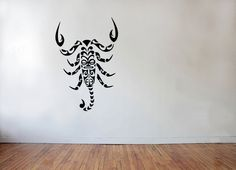 Maori tribal tattoo style Scorpion  Wall decal by AdnilCreations, £8.99