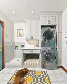 You don't generally think about laundry rooms as being beautiful but this well designed laundry/doggy room is simply stunning. The owners made use of every inch of wall space to and the end result is endlessly functional. _______________  #renovations #homeimprovement #renovation #homereno #decor #contractors #startup #yycnow #reno #construction #yyclove #yegstartup #calgary #edmonton #yyc #yeg #alberta #yycliving #homedecor #yegliving #calgarylife #edmontonlife #yegbiz #yeglocal…