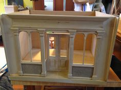 build a room box around a commercial store front - tut