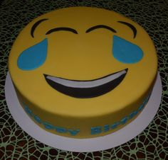 Smiley Whatts App LOL Cake Smiley Torte