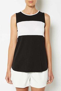 Tops | Women's tanks, lace camis, T Shirts & more| Witchery Online - Colour Block Stripe T-Shirt