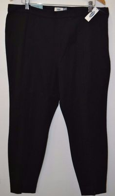 NEW OLD NAVY Womens Blue High-Rise Sided Zipper trousser Career Black Pants 16 #OldNavy #DressPants