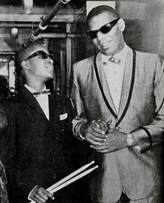 Little Stevie Wonder and Ray Charles 1963
