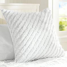 Fave Tee Ruffle Pillow Cover  $45.00  http://www.pbteen.com/products/fave-tee-ruffle-pillow-cover/?pkey=cgirl-decorative-pillows_src=girl-decorative-pillows||NoFacet-_-NoFacet-_--_-