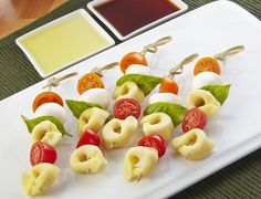 Looking for an authentic Italian recipe? Try Barilla's step-by-step recipe for Barilla® Caprese Tortellini Party Skewers for a delicious meal! Italian Recipes, New Recipes, Favorite Recipes, Healthy Recipes, Grilled Recipes, Italian Dishes, Vegetarian Recipes, Healthy Food, Appetizer Recipes