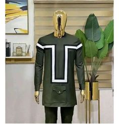 African Dresses Men, African Attire For Men, African Clothing For Men, African Fashion Designers, African Men Fashion, Fashion Wear, Fashion Pants, Mens Fashion, Mens Shirt And Tie