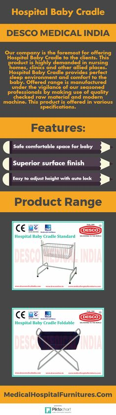 Our company is the foremost for offering Hospital Baby Cradle to the clients. This product is highly demanded in nursing homes, clinics and other allied places. Hospital Baby Cradle provides perfect sleep environment and comfort to the baby.