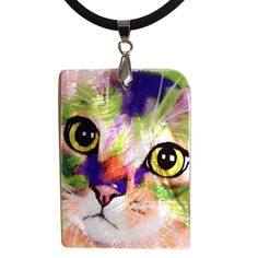 Kauhi Eyes Cat Art Mother of Pearl Jewelry Pendant Necklace by Claudia Sanchez Lovers Gift, Cat Lover Gifts, Cat Lovers, Shell Pendant, Pearl Pendant, Cat Jewelry, Jewelry Art, Cat Necklace, Pendant Necklace