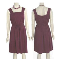 Vintage 1970s Plum  Dress Leaves Print More Promises  #MorePromises