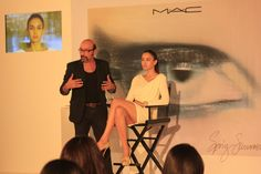 A Complete White set for MAC Trends Summer and Spring 2013. Mickey explaining the look.