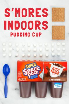 After school is the perfect time to take a little camping trip with your kids…make this twist on S'mores! Start everyone off with their own cup of chocolaty Snack Pack Pudding. Then stir in crushed graham crackers and marshmallows. It's a cinch! Click here for the recipe and even more fun treat ideas.