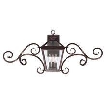 """View the Savoy House 5-143 Traditional / Classic Three Light Up Lighting Outdoor Wall Sconce with Scrolls from the Ellijay Collection at LightingDirect.com. """"Great over a double garage door"""""""