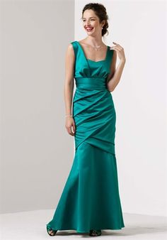 This dress in black for a formal and classic look for the bridesmaids!