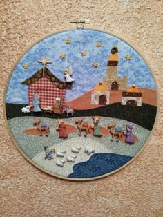 Pesebre Nativity Crafts, Holiday Crafts, Christmas Decorations, Christmas Ornaments, Christmas Villages, Button Crafts, Mandala, Sewing Crafts, Craft Projects
