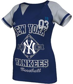 New York Yankees Womens This Is My City Navy Fashion Top by Majestic $31.95