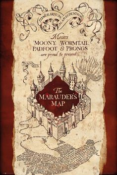 Harry Potter Marauder's Map - Official Poster