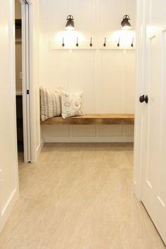 Color Tile, Tile Flooring, Floors, Backsplash, Master Bedroom, Tiles, Entryway, Bench, Living Room