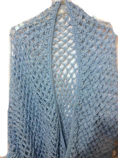 Crochet Shawl Solomon Knot Lovers Knot Stitch by ToppyToppyKnits