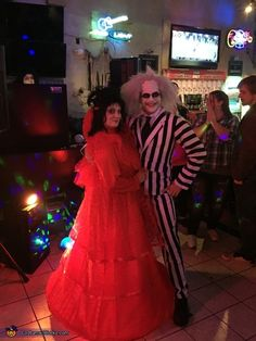 Beetlejuice and Lydia - 2016 Halloween Costume Contest