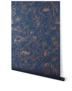 Underwater World (Deep Blue) from Hygge  Amazing in a bathroom? Probably so! #HyggeAndWestPinToWin