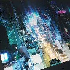 I needed a change from oriental and desert artworks. This is what Im working on right now to take a fresh breath. I alway liked #cyberpunk but after recent visit to #Tokyo its on another level now. So this is basically my tribute to Tokyo and cyberpunk. Hope to finish it soon and share with you. . . . . .  #future #megacity #city #futurecity #scifi #scifiart #scificity #nightcity #neons #holograms #skyscrapers #akira #gits #otomo #japan #futirism #digitalpainting #conceptart #searchlight…