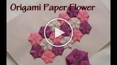 Origami paper flower - How to make origami flower wall art. Paper Flowers Craft, How To Make Paper Flowers, Origami Flowers, Flower Crafts, Paper Crafts, How To Make Origami, Origami Paper, Flower Wall, Entryway Decor