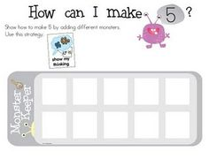 playdough number printables with monster ten frames