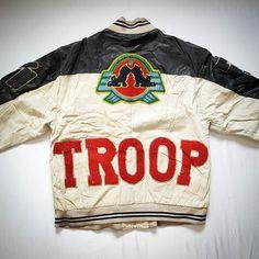 Vintage World of Troop Leather Jacket For sale $299 PayPal Only #vintage #worldoftroop #leatherjacket #hiphop #rap #rare