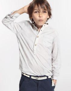 Camisa ibicenca de Lino cuello Mao Medina