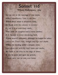 Poetry Unlocked: Sonnet 116 by William Shakespeare ...