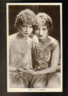 Jane & Eva Novak, stars of the silent screen
