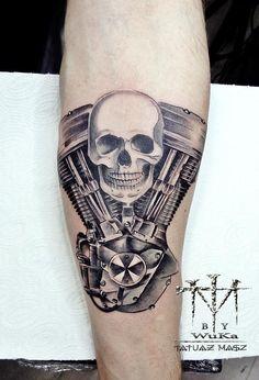 Engine Harley Davidson Tattoo