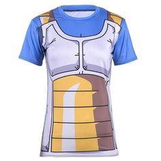 DBZ Vegeta Cell Saga Battle Saiyan Armor Fitness 3D Women T-Shirt  #DBZ #Vegeta #Cell #Saga #Battle #Saiyan #Armor #Fitness #3D #Women #TShirt