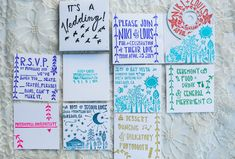 Fun & Colourful Wedding Stationery | Caitlin Turner Photography | Bridal Musings Wedding Blog