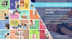 ❤️ SOCIAL MEDIA CONTENT ❤️ ⚕️🧒 Pediatric Chiropractic Bundle ⚕️🧒 - Chiropractors have been caring for children for more than 100 years. Many common childhood ailments will respond to this safe, natural form of health care. More and more parents— especially those who are already chiropractic patients themselves—are seeking chiropractic care for their children. #Pediatric #chiropractor #PediatricCiropractic Social Media Images, Social Media Content, Pediatric Chiropractor, Chiropractic Care, Natural Forms, Healthy Kids, Pediatrics, Health Care, Parents