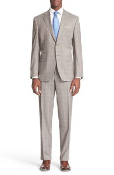 Canali Classic Fit Plaid Wool Suit available at #Nordstrom