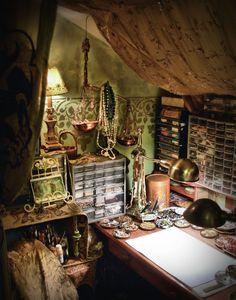 studio move ~ tiny but warm - Parrish relics