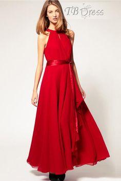Elegant Sleeveless Waistband Chiffon Dress