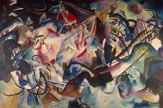 Painter Wassily Kandinsky. Painting. Composition VI. 1913 year