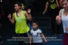 My bodyguard at Zumba event