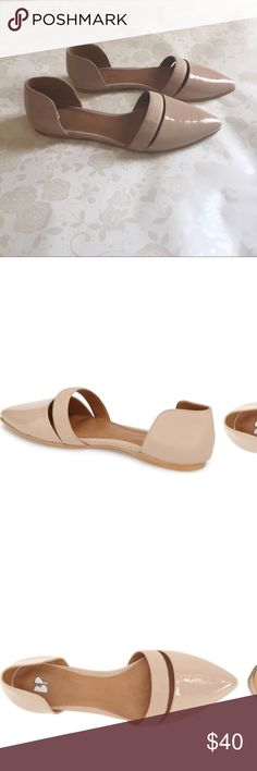"""BP """"Lovee"""" Banded Flat Beige/Nude Patent Leather. Perfect shoe to dress up or dress down for a day out with the girls or a night out with your guy! bp Shoes Flats & Loafers"""