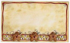 Molduras e Barras - Carla Simons - Picasa Web Album Christmas Gingerbread Men, Christmas Holidays, Christmas Cards, Christmas Ideas, Decoupage, Printable Recipe Cards, Frame Clipart, Borders And Frames, Christmas Clipart