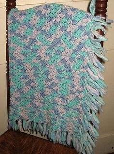 SOLD! A darling Hand Crocheted Knitted Baby Blanket Afghan Dreamy Blue Lavender Aqua Boy or Girl @eBay! http://r.ebay.com/4Ymu0b