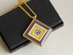 Golden chip recycled computer necklace by ReComputing, $30.00