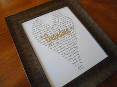 grandmother gift grandma birthday christmas by riricreations, $28.00